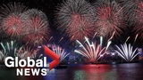 New Year's 2019 Hong Kong's Victoria Harbour lit up by spectacular display