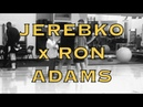 Jonas Jerebko with Ron Adams, who shoots lefty free throws, then gets hug from Steve Kerr