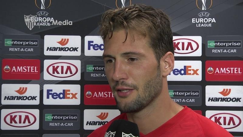 Vázquez: Estoy contento por empezar así en la competición del Sevilla FC