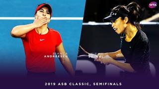 Bianca Andreescu vs. Hsieh Su-Wei   2019 ASB Classic Semifinals   WTA Highlights