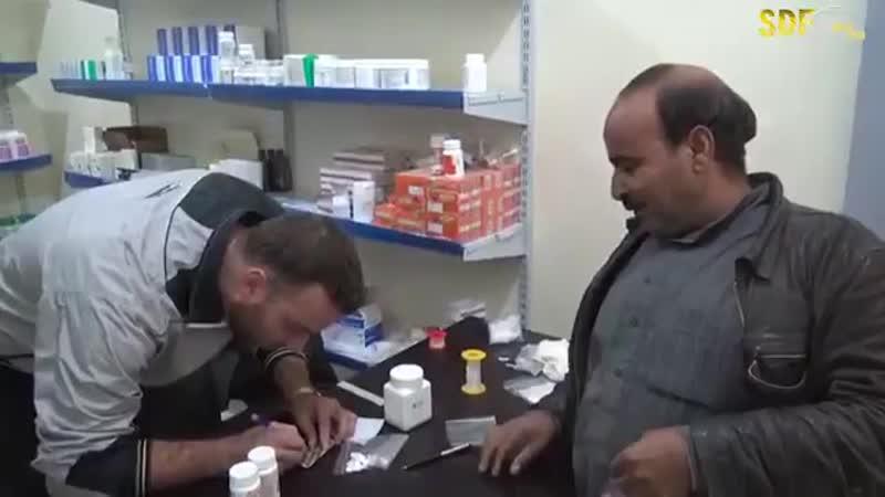 Рожава г.Ракка деревня Akirisha, открыта клиника.