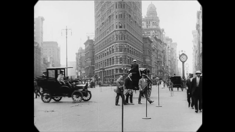 1911 A Trip Through New York City speed corrected w added sound
