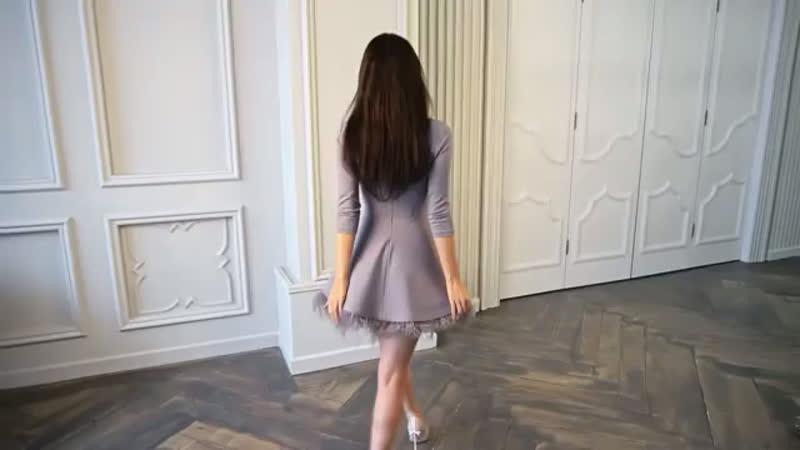 Платье «Перелия» серо-голубое