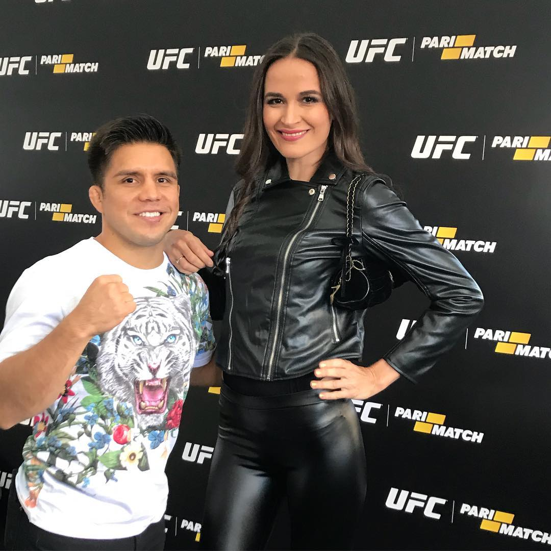 Henry Cejudo With A Tall Russian Female Pic