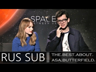 Britt Robertson and Asa Butterfield on online dating, Tinder and being romantic