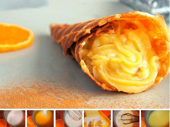 Заварной апельсиновый крем