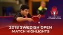 Liang Jingkun vs Jeoung Youngsik | 2018 ITTF Swedish Open Highlights (Pre)