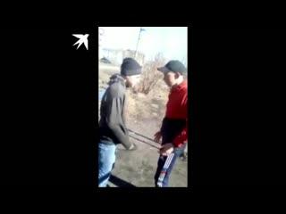 Появилось ещё одно видео, где барабинские подростки избивают школьника