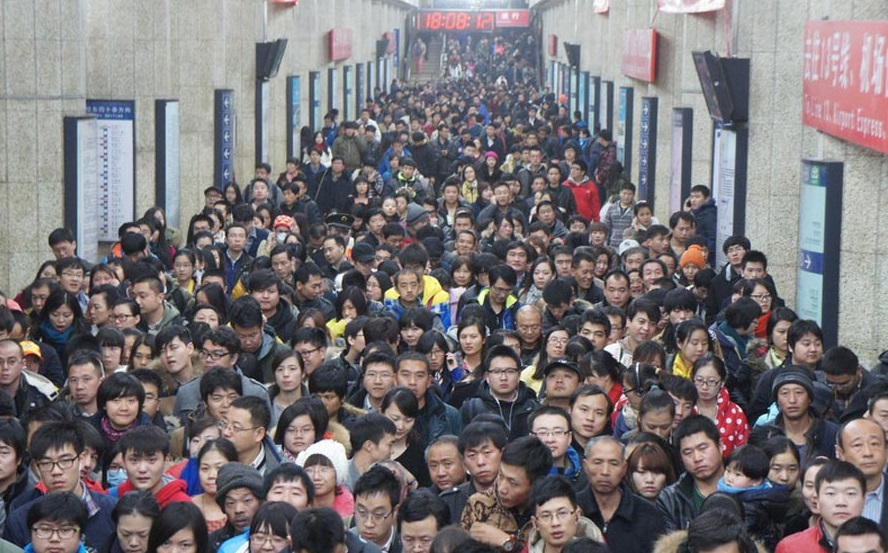 китайское метро люди