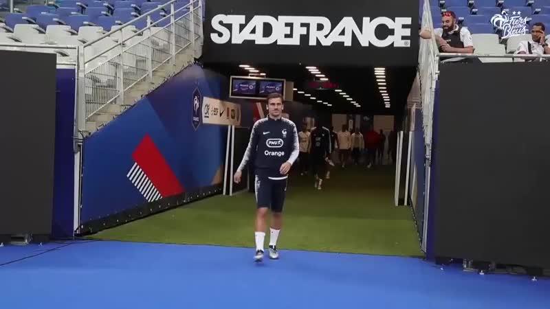 Заключительная тренировка сборной Франции на Стад де Франс. 16.10.2018
