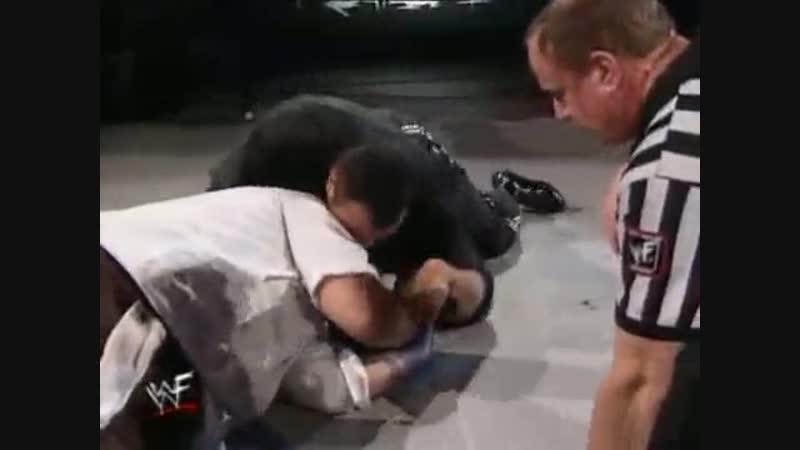 The rock vs mankind 1999