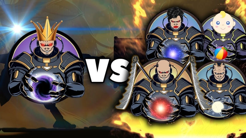 Shadow Fight 2 - Бой Супер Титан против Семья Титана
