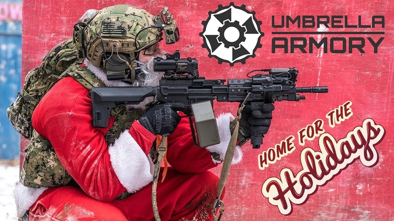 SANTA HAS AN LMG Umbrella Armory KRYTAC LMG Airsoft Gameplay !