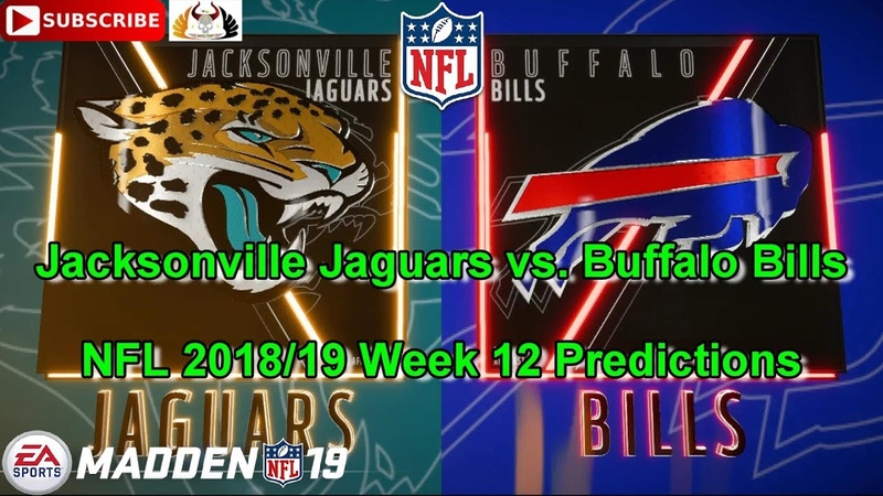 Jacksonville Jaguars vs. Buffalo Bills | NFL 2018-19 Week 12 | Predictions Madden NFL 19