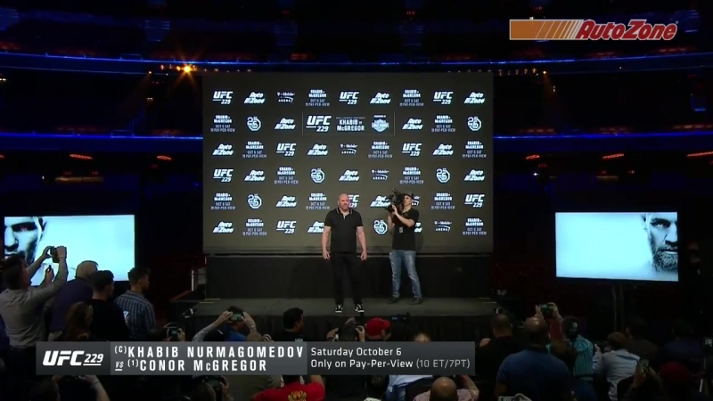 Khabib Nurmagomedov and Conor McGregor face off for the first time at the UFC229 presser!