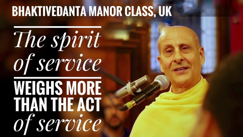 Spirit of service weighs more than the act |HH Radhanath Swami |Bhaktivedanta Manor