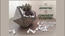 DIY Geometric Concrete Planter Geometrik Beton Saksı Yapımı