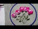 Цветок из атласной ленты / Satin ribbon flower