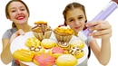 Видео для детей Украшаем невероятные пирожные Шоколадная ручка