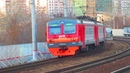 ЭД4М-0201, ЭП20-054 с поездом№094Й Москва-Пенза платформа Электрозаводская 13.11.2018