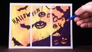 How To Draw SCARY HALLOWEEN step by step - Halloween Drawing