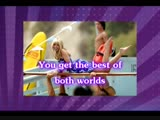 Ханна Монтана - Best of both worlds - караоке
