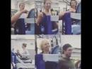 Небольшое видео с тренировок в спортзале из инстаграмма Жульет Бинош