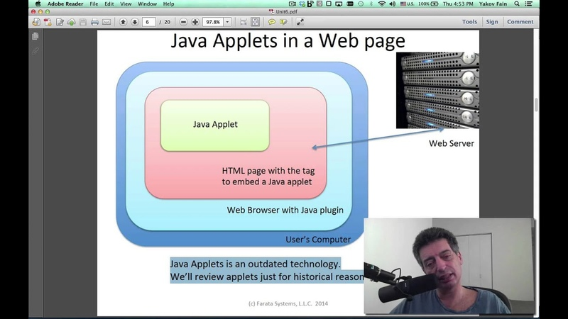 Intro to Java. Unit 6. GUI with Swing. Part 2. Inner Classes. Applets (in Russian)