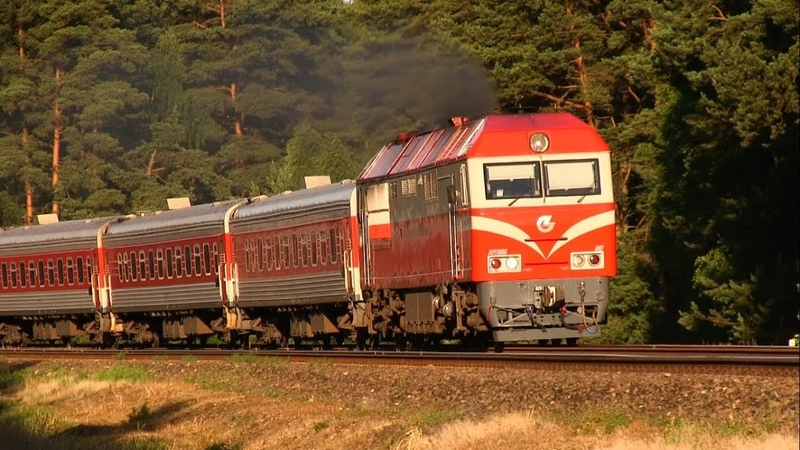 ТЭП70БС-002 с пассажирским поездом TEP70BS-002 with a passenger train