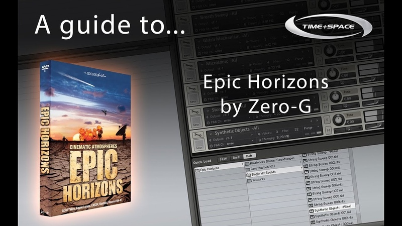 Zero-G Epic Horizons sample library with textures, ambiences, soundscapes, drones and FX