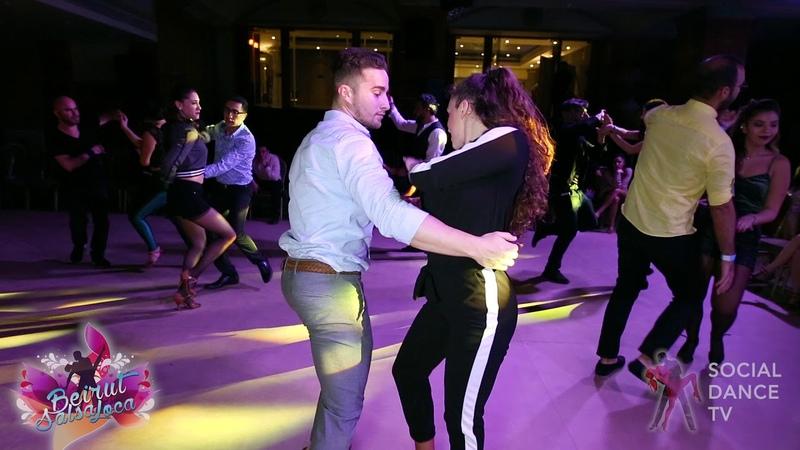 Pedro Perez Yaiza Melero Bachata social dancing Beirut Salsa Loca 2018