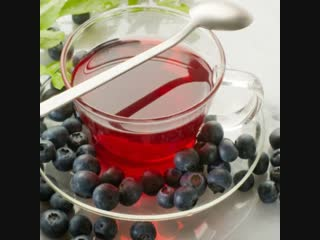 Чайный напиток из сушеных ягод Черники,