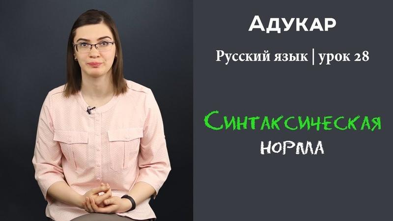Синтаксическая норма| Русский язык