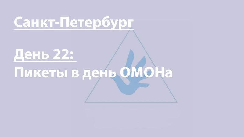 Бессрочка в Петербурге. День 22: пикеты в День ОМОНа