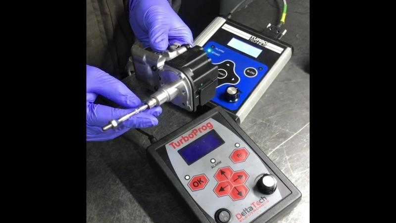 Проверка актуатора на тестере Turbotechnics