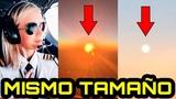 Piloto demuestra que el Sol y la Luna tienen el MISMO TAMA