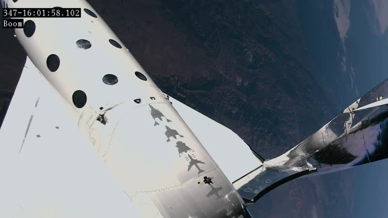 Virgin Galactic's pilots reach the edge of space Spaceship Unity, welcome to space. Copy base. Million dollar view!