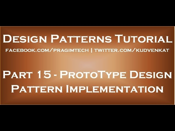 ProtoType Design Pattern Implementation