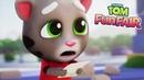 ГОВОРЯЩИЙ ТОМ ВЕСЕЛАЯ ЯРМАРКА 2 Анджела Хэнк Бен мультик игра видео для детей Talking Tom Fun Fair