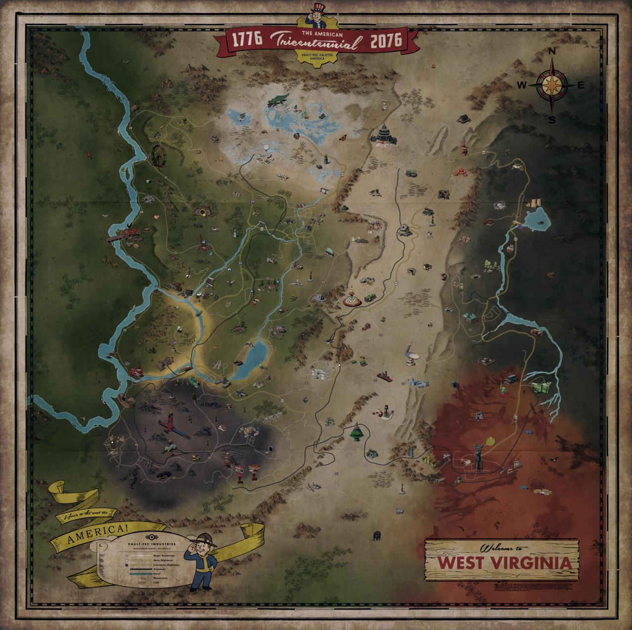 Карта Fallout76