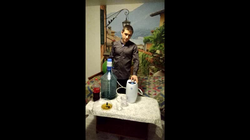 Эксперимент с системой очистки воды eSpring (Кока-Кола и Зелёнка)