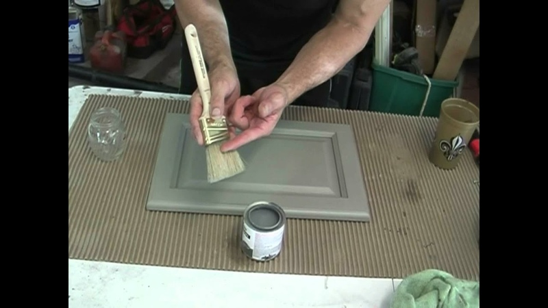 Glazing technics for kitchen cabinets!