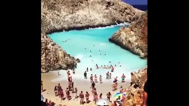😍Пляж Шайтан Лиманья на острове Крит ⠀ ⠀ пляжмечты лучшийпляж наморе крит Греция