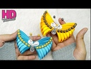 DIY How to make butterfly with satin ribbon Kanzashi bros kupu kupu