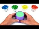 Aprenda Como Fazer Copo de Areia Cinetica Com Chocolate M Ms Kinetic Sand Cançoes para Crianças