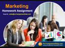 Marketing Homework Assignment from No1AssignmentHelp