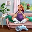 Иллюстрации о том, как непросто живется беременной женщине(и тем, кто рядом)