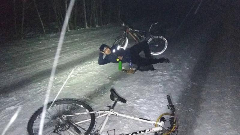Как велосипедисты Новый год на Саур-Могиле встречали.