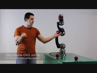 Myo robot control – intuitive manipulation with a 6 dof robotic arm and anthropomorphic hand myo robot control – intuitive manip