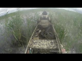 Испытание лодки болотохода в Сибири, от Владимира Дыкань. г Краснодар